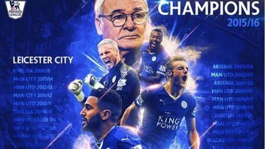 El modesto Leicester, histórico campeón de la 'Premiere' ante todos los clubes galácticos ingleses