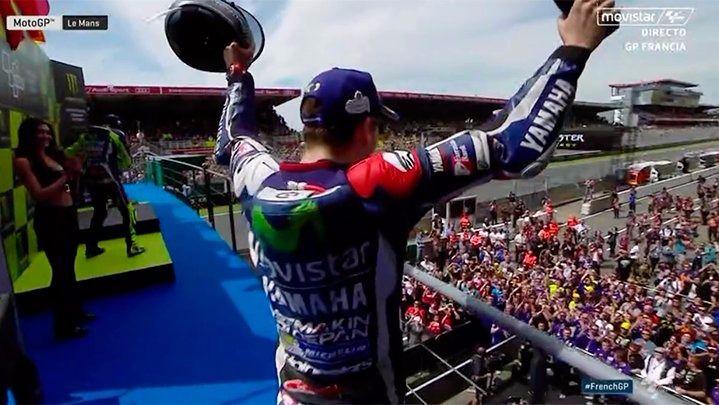 Doble golpe de efecto de Jorge Lorenzo: gana en Le Mans y ya lidera el Mundial