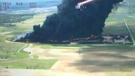 La Junta eleva a grado 2 el nivel de emergencias por el incendio de Seseña