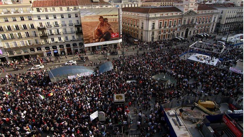 Sol se une al grito de protesta internacional en el quinto aniversario del 15M