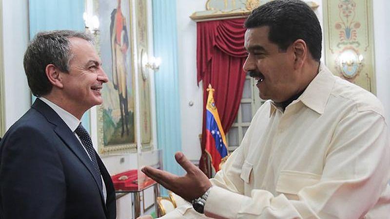 Maduro denuncia a Zapatero una 'campaña mediática parte de medios de derecha de España'