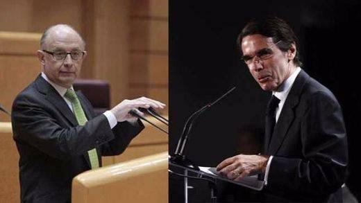Aznar y Montoro volverán a verse las caras este viernes tras la polémica filtración de los datos de Hacienda