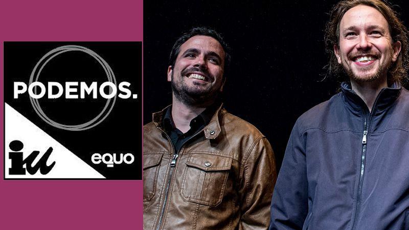 'Unidos Podemos' ya tiene logo, donde IU queda relegado al nivel de Equo bajo el protagonismo absoluto de Podemos
