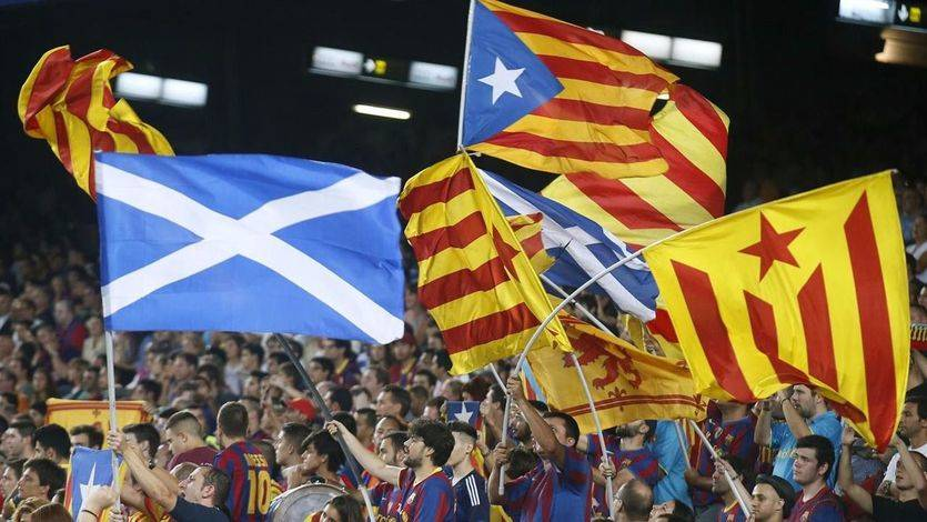 Banderas esteladas y escocesas