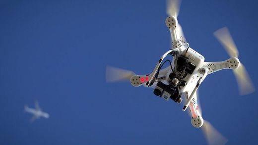 Persecución policial a vista de drone