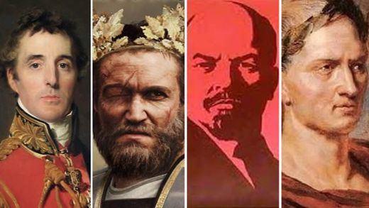 ¿Qué personajes históricos serían nuestros actuales líderes políticos?: Pompeyo, Lenin...