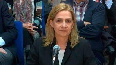 Infanta Cristina en el banquillo del juicio del caso N�os