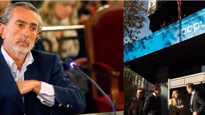 Francisco Correa y dirigentes del PP en Génova