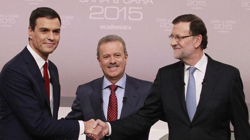 Cara a cara debate Sánchez y Rajoy