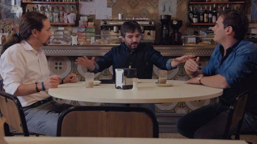 Debate Pablo Iglesias y Albert Rivera en Salvados con Jordi Évole