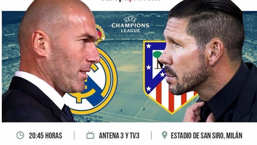 Champions: horario y dónde ver por televisión el apasionante Madrid-Atleti