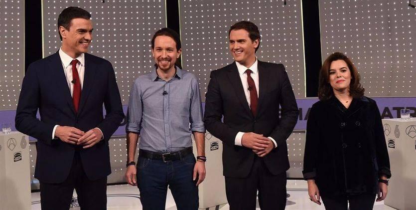 Rajoy, Sánchez, Iglesias y Rivera anuncian otra aparición en televisiva sin aclarar aún los 'debatazos'