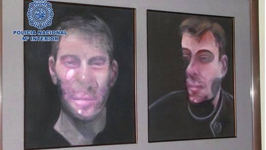 Una de las fotografías de los cuadros de Bacon robados.