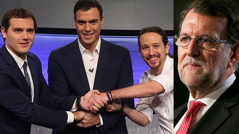 Rajoy se atreve a un único debate, que será, eso sí, contra sus 3 rivales: Sánchez, Iglesias y Rivera
