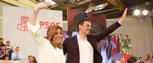 Pedro Sánchez, más prudente que otros socialistas, se limita a defender la presunción de inocencia de Chaves y Griñán