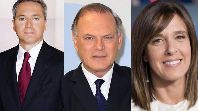 Vicente Vallés, Pedro Piqueras y Ana Blanco, posibles moderadores del 'debate a cuatro'