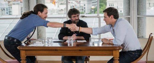 Pablo Iglesias y Albert Rivera escenifican su distanciamiento en un tenso cara a cara en 'Salvados'