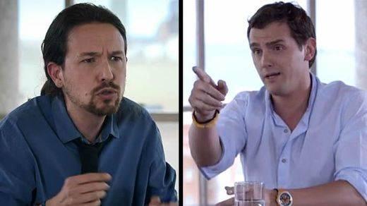 Enemigos irreconciliables: Iglesias y Rivera acaban de empezar y ya ni pueden debatir sin acuerdos