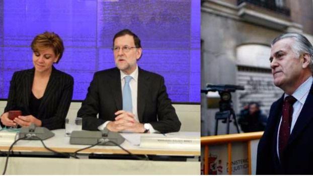 Cospedal Rajoy y Bárcenas