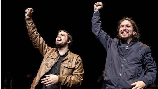 Iglesias y Garzón 'catalanizan' su lema con la sonrisa de... ¿los pueblos?