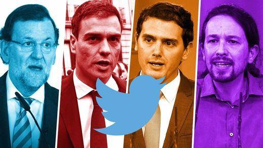 El Partido Popular, el 'rey' del Twitter en la competición a cuatro