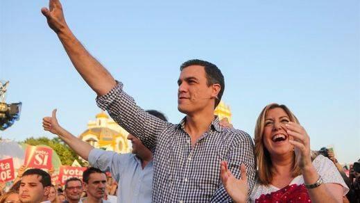 Sánchez pide el voto para un PSOE 'culpable' de la sanidad pública, la educación, la igualdad y del fin del terrorismo de ETA