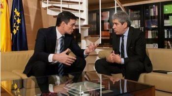 Pedro Sánchez y Francesc Homs, de DL.