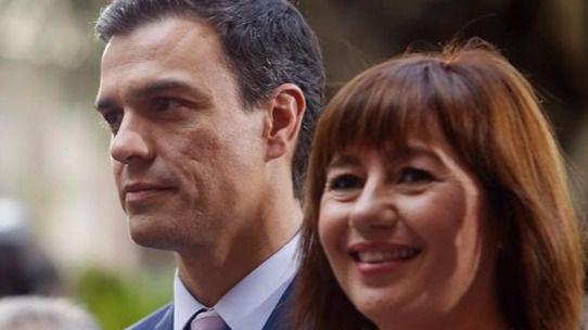 Francina Armengol, una 'baronesa' que se desmarca: rotundo no a abstenerse para que gobierne Rajoy