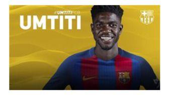 El central francés Samuel Umtiti refuerza la zaga del Barça por 25 millones