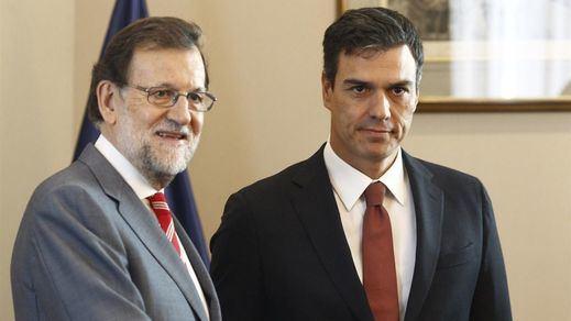 Rajoy pone a Sánchez contra la espada y la pared: deberá garantizar al Rey su abstención para que haya investidura