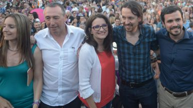 Pablo Iglesias en un mitin de Unidos Podemos en Alicante