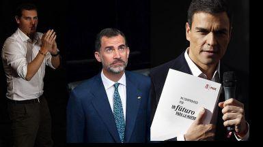 Bronca e indignaci�n generalizada con Rivera por querer presionar al Rey sobre la investidura