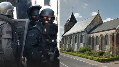 Toma de rehenes en una iglesia en Francia: abatidos los 2 secuestradores y al menos un secuestrado fallecido