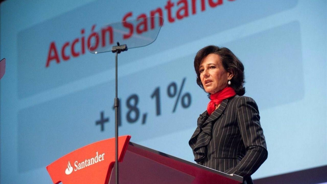 El Santander gana hasta junio un 32% menos por los extraordinarios y el tipo de cambio