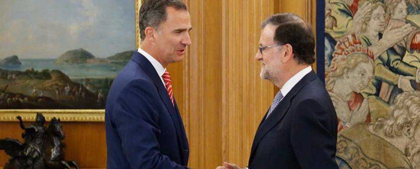 Rajoy acude a la cita con el Rey en la ronda de contactos para la investidura