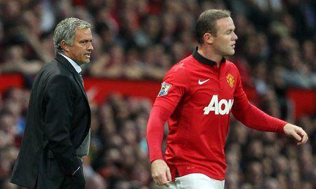 Rooney pelotea a Mou, su nuevo jefe y