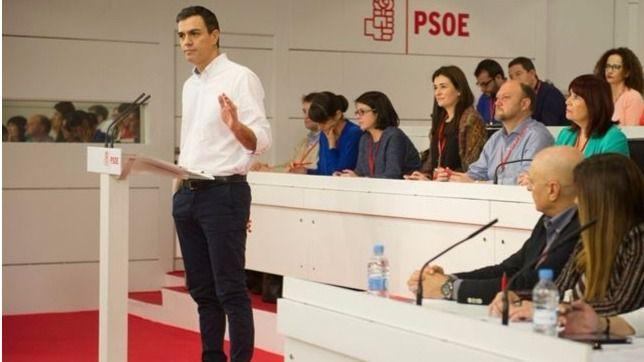 Pedro Sánchez durante su discurso ante el Comité Federal.