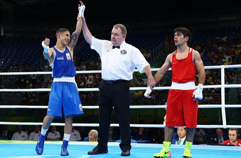 Samuel Carmona celebra su victoria en Río.
