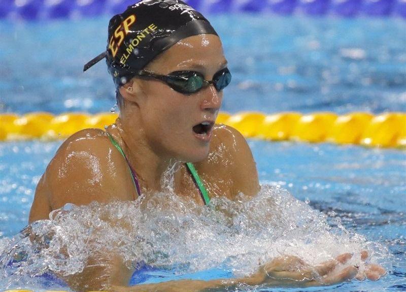 Mireia Belmonte en su primera prueba en Río.