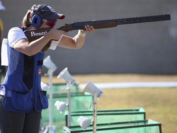 La tiradora de foso olímpico Fátima Gálvez.
