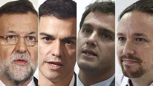 > Ránking de valoración de líderes: Rajoy e Iglesias mejoran