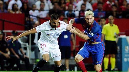 Supercopa: el Sevilla pone el esfuerzo y el Barça la puntería en el Pizjuán (0-2)