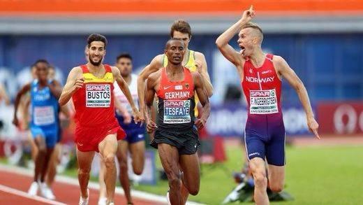 Prueba de 1.500 metros de atletismo
