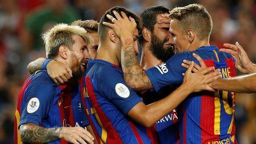 Paseo militar del Barça ante un Sevilla que sólo pudo aplaudir otra Supercopa blaugrana (3-0)
