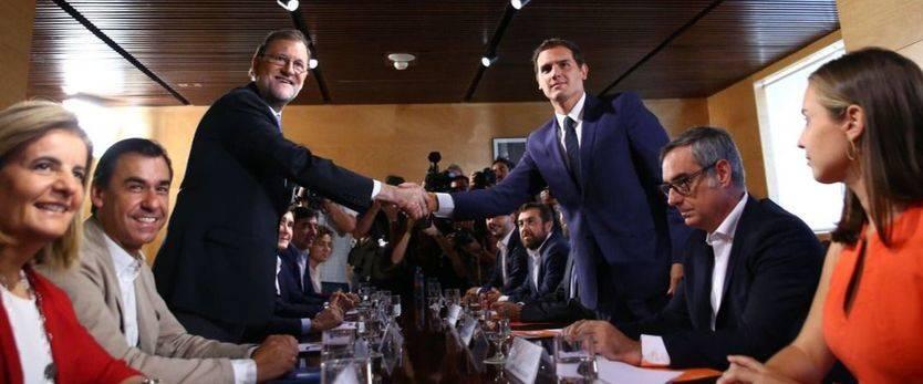 Rajoy y Rivera ratifican 150 medidas, incluyendo la dación en pago y un recorte en la administración