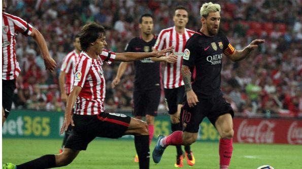 El Barça sufre pero gana a un Athletic mejorado (0-1)