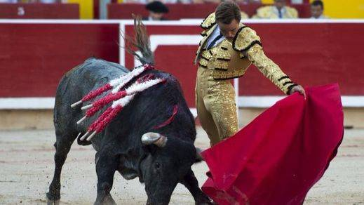 Petardo ganadero y oreja facilita para Juan Bautista en Colmenar Viejo