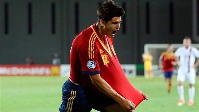 Morata dio el susto con la Selección, pero no tiene una lesión grave