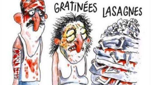 Italia, indignada con una viñeta de 'Charlie Hebdó' sobre el terremoto de Amatrice