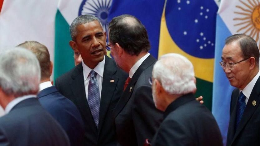 Rajoy, en China, comenta la situación política española con Obama, Merkel, Hollande, Macri y May